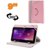 Housse universelle tablette 9 pouces protection support 360° Rose - www.yonis-shop.com