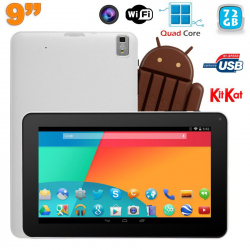 Tablette tactile 9 pouces Android 4.4 Bluetooth Quad Core 72Go Blanc - www.yonis-shop.com