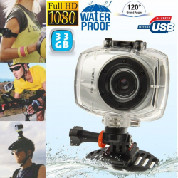 Camera embarquée étanche caisson waterproof Grand angle Full HD 33 Go - www.yonis-shop.com