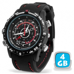 Montre camera espion mini appareil photo numérique waterproof 4 Go