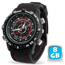 Montre camera espion mini appareil photo numérique waterproof 8 Go
