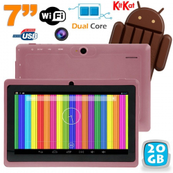 Tablette tactile Android 4.4 KitKat 7 pouces Dual Core 20 Go Violet - www.yonis-shop.com