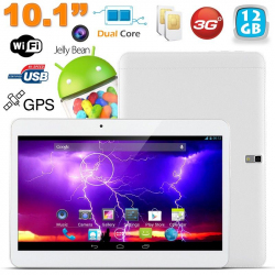 Tablette tactile 3G 10.1 pouces Android 4.4 Dual SIM 12 Go