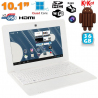 Mini PC Android ultra portable netbook 10 pouces WiFi 36 Go Blanc - www.yonis-shop.com