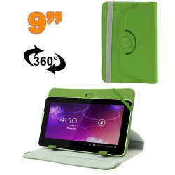 Housse universelle tablette 9 pouces protection support 360° Vert