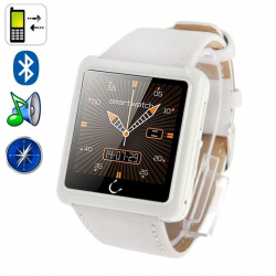 Uwatch U10 1.54 Inch Screen Bluetooth Smart Watch, Support Pedometer / Sleep Monitoring / Remote Capture / E-compass(White)