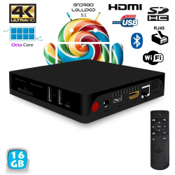 Mini PC Android TV BOX Passerelle multimédia 4K Octa Core 2Go RAM 16Go - www.yonis-shop.com