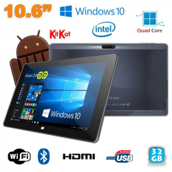 Tablette Windows 10 pro + OS Android 4.4 Dual Boot 10.6 pouces 32Go - www.yonis-shop.com