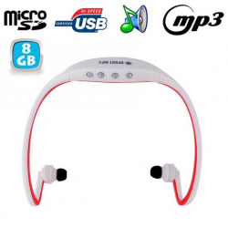 Casque sport sans fil lecteur MP3 audio Running vélo Rouge 8 Go - www.yonis-shop.com