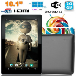 Tablette tactile 10 pouces Android Lollipop 5.1 Octa Core 20Go Noir - www.yonis-shop.com