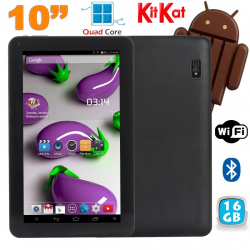 Tablette 10 pouces Quad Core Android 4.4 WiFi Bluetooth 16Go Noir - www.yonis-shop.com