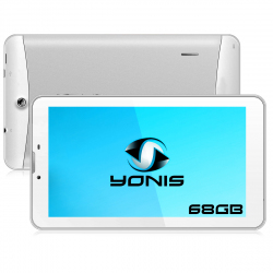 Tablette 3G 7 pouces GPS OTG Android 4.4 Double SIM 68Go Blanc - www.yonis-shop.com