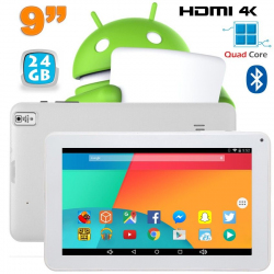Tablette 9 pouces Android 6.0 Tactile HDMI 4K 1,5GHz 1Go RAM 24Go