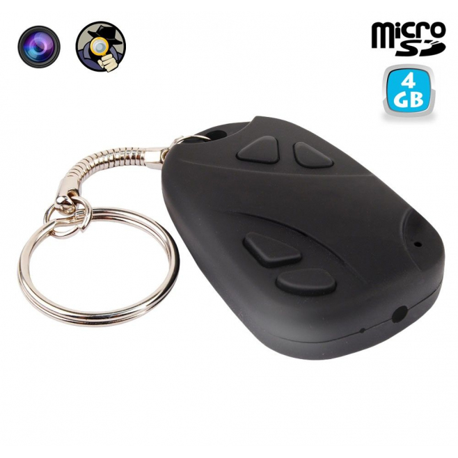 Porte clés camera espion mini appareil photo USB Micro SD 4 Go