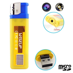 Briquet camera espion mini appareil photo caché USB Micro SD - www.yonis-shop.com