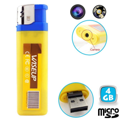 Briquet camera espion mini appareil photo caché USB Micro SD 4 Go - www.yonis-shop.com