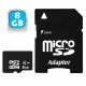 Carte mémoire Micro SD SDHC 8 Go Gb classe 6 appareil photo smartphone - www.yonis-shop.com
