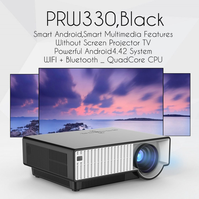 vid oprojecteur led 2800 lumens 180w hd 1080p hdmi home cinema noir. Black Bedroom Furniture Sets. Home Design Ideas