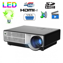 PRW310 2800 Lumens HD Digital LED Projector for Home Theater / School, Support 1080P(Black)