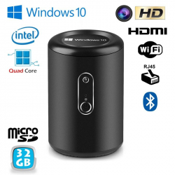 Micro PC Windows 10 CPU Intel 2GB RAM Barebone WiFi Mini PC 32Go Noir - www.yonis-shop.com