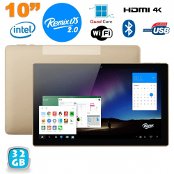 Tablette 10 pouces Remix OS 2GB RAM CPU Intel Quad Core x64 32Go - www.yonis-shop.com