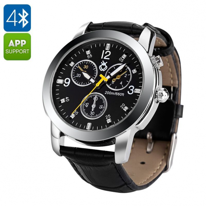 montre connect e tanche 3atm smartwatch android ios. Black Bedroom Furniture Sets. Home Design Ideas