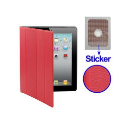 Smart cover iPad 2 sticker rouge - www.yonis-shop.com
