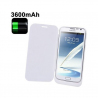 Batterie coque flip cover Samsung Galaxy Note 2 chargeur 3600mah Blanc - www.yonis-shop.com