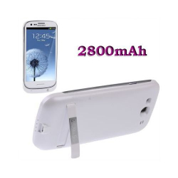 Batterie coque Samsung Galaxy S3 I9300 chargeur 2800 mah Blanc