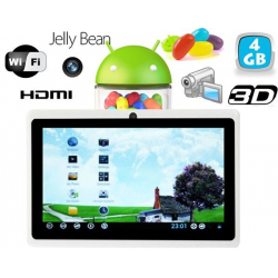 Tablette tactile Android 4.1 Jelly Bean 7 pouces HDMI 4 Go Blanc