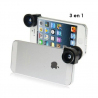 Objectif Fisheye 180° lentille grand angle macro 3 en 1 iPhone 5 - www.yonis-shop.com