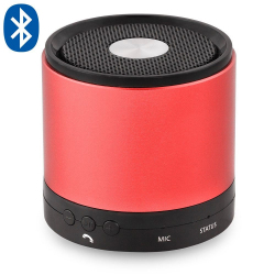 Enceinte Bluetooth smartphone tablette kit mains libres Rouge