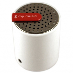 Mini enceinte bluetooth universelle smartphone tablette Blanc