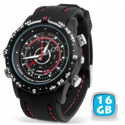 Montre camera espion mini appareil photo waterproof 16 Go