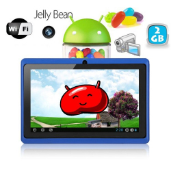Tablette tactile Android 4.1 Jelly Bean 7 pouces capacitif 3D Bleu