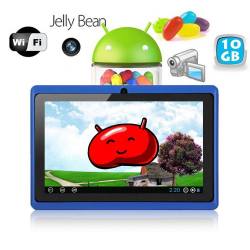 Tablette tactile Android 4.1 Jelly Bean 7 pouces capacitif 10 Go Bleu - www.yonis-shop.com